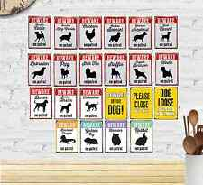 Dog Breed & Small Animal Advisory Tin Signs