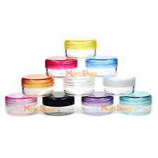 Tiny Small Plastic Sample Lip Balm Containers Mini Bottle Jars Vial Cosmetic New