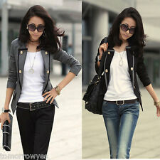 Women Blazer Jacket One Button Slim Ladies OL Casual Suit Coat Outerwear Tops