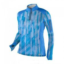 Womens RZR Quarter Zip Mock T - Stained Glass Blue by Polaris (2864268)
