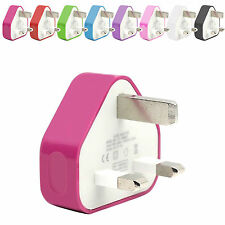 CE COLOUR PLUG WALL MAINS USB CHARGER FOR VARIOUS MOBILE CELL PHONES