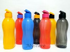 Tupperware H2O On The Go Water Drink Bottles Sport Flip Top Cap 1.0L x 1 pc