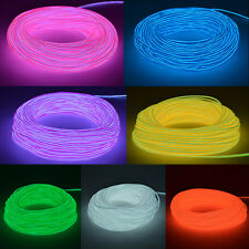 Flexible El-Wire Electroluminiscent Rope Neon Light Glow