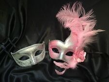 Masquerade Mask Pair Costume School Prom Birthday Wedding Couple Bachelor Party