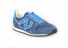 BLUE SNEAKER SUEDE and FABRIC LACES GYMNASTICS MEN ARMANI JEANS spring/summer 30