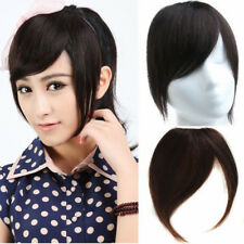 Clip In On 100% Virgin Human Hair Bangs Fringe Extension With Sidebums Hairpiece