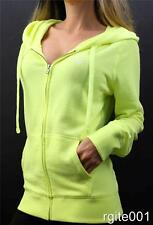 Victoria's Secret Love PINK Full Zip Up Hoodie Neon Graphic Sweatshirt