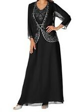 Mother Of Bride Groom Women's Wedding Party Beading Jacket dress suit plusXL1X2X