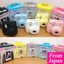 Fujifilm Instax Mini 8 Cheki Instant Camera Pink Blue White Blank Yellow Japan
