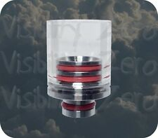 Glass Stainless Steel 510 Drip Tip RBA RDA Super Wide Bore Removable Replaceable