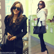 Women Hooded Zipper Outerwear Long Sleeve Long Hoody Jacket Coat Winter