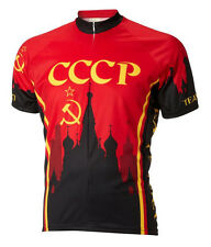 Soviet Team Cycling Jersey by World Jerseys Men's CCCP Russia with DeFeet Socks