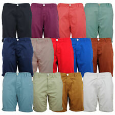 Soul Star Mens Designer Cotton Chino Shorts With Roll Up Hem