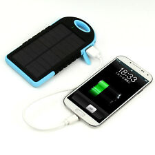 5000mAh Solar Panel Power Bank Dual USB External Battery Charger for Cell Phone