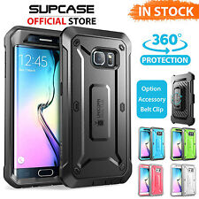 Galaxy S6 Edge CASE COVER,Genuine SUPCASE Shockproof Heavy Duty Armor Tough Case