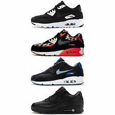 Mens Nike Air Max 90 Essential Premium Breathe Leather Suede Trainers All Sizes