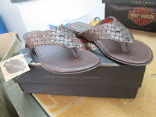 NEW Harley Davidson Womens Leather Sandals Medium Brown Maclay
