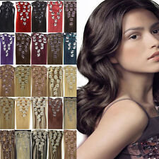 For A Full Head Clip in Remy Human Hair Extensions Beauty Style 7Pieces 20''70g