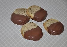 18 Chocolate Dipped Cranberry Espresso Shortbread Cookies  Fresh ! Edible Gift!