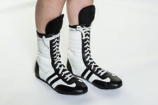 Kids Junior Boxing Boots Childrens Leather Boxing Shoes Light Weight Warrior