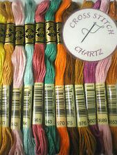 1 - 50 DMC THREADS SKEINS CROSS STITCH FLOSS PYO PICK YOUR OWN COLOURS ALSO 100