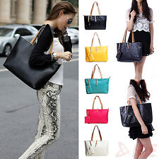 Ladies Womens Leather Messenger Large Handbag Shoulder Bag Women's Totes Purse