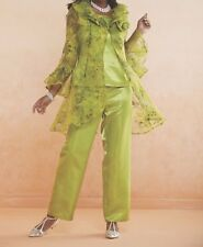 Mother of Bride Groom Women's Evening Cruise Wedding pant suit plus L XL1X 2X 3X