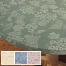 Grapes Vinyl Fitted Round Oval/Oblong Table Cover Beige Blue Rose Sage Cloth