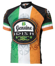 Genuine Irish Ireland Cycling Jersey by World Jerseys Men's Short Sleeve bike