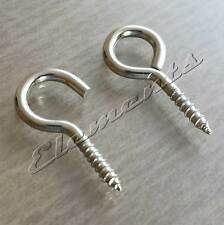 25mm Strong Steel Screw Hooks & Eyes Nickel Plated Curtain Wire Picture Frame