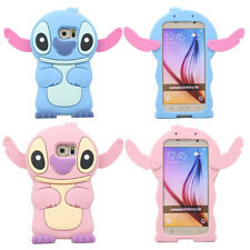 Hot 3D Cute Lovely Cartoon Stitch Soft Silicone Case Cover For Samsung Galaxy S6