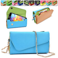 Womens PU Leather Wallet Case Cover & Crossbody Clutch for Smart-Phones MLUB25