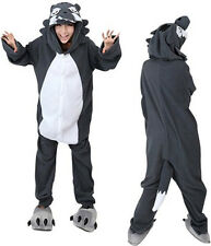 Unisex Kigurumi Cosplay Costume Adult Animal Onesie Wolf Pyjamas Sleepwear Suit