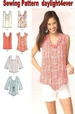 Women Summer Pullover Tops Blouse Tunic A Sewing Pattern 1806 Simplicity New