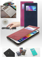 Slim Wallet Window Viewer Micro suction cup Cover Card holder CASE for SAMSUNG