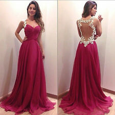 Sexy Sleeveless Backless Party Cocktail Evening Formal Prom Long Maxi Dress