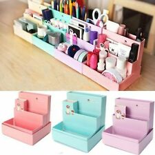 Cute DIY Paper Board Storage Box Desk Decor Stationery Cosmetic Makeup Organizer