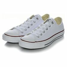 Converse All Star Chuck Taylor Low Top White LEATHER Unisex New In Box 132173C