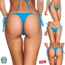 COQUETA SWIMWEAR BRAZILIAN BIKINI teeny thong whaletail Bottom turquoise blue