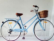 7 Speed Vintage Ladies Bike -Baby Blue color with free lights and lock