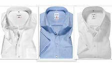 Mens Shirt OLYMP LUXOR Regular Comfort Fit SHORT SLEEVE Pure Cotton Non Iron