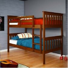 Donco Kids Mission twin over twin pine bunk bed, light espresso 120-3E. FREE SH