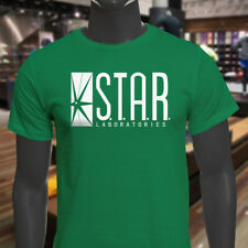 The Flash DC Barry Allen Laboratories Star Labs Mens Green T-Shirt