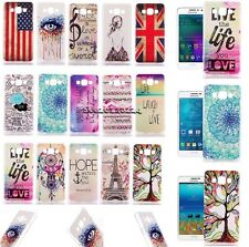 For Samsung A3 A5 A7 Cute Painted Ultra Slim Crystal Mix Hard PC Cover Case Skin