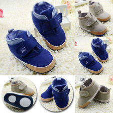 Lovely Toddler Baby Boys Girls High Ankle Crib Shoes Velcro Sneaker Boots Soft