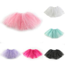 Toddler Kids Girl Princess Short Tutu Skirt Bling Tulle Party Ballet Dance Dress