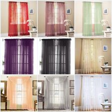 1 Piece Sheer Voile Door Window Curtain Panel Drape more than 15 Colors