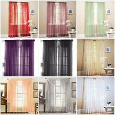 1 Piece Home Sheer Voile Door Window Curtain Panel Drape more than 15 Colors