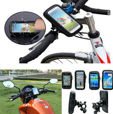2IN1 Waterproof  Phone Case Bag +  Bike Motorcycle Handlebar Mount Holder Cradle