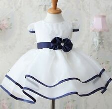GIRLS WHITE SUMMER PARTY DRESS NEW (76)